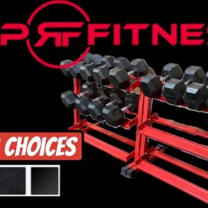 THE BEST DUMBBELL RACK FOR HOME GYMS! Rep Fitness 3 tier Dumbbell Weight Rack / Storage Rack Amazon