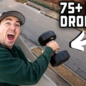 DROPPING A DUMBBELL 75 FEET - Will It Survive?