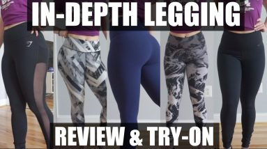 In-depth Legging Review   Lululemon, Gymshark, & Nike Legging Try On