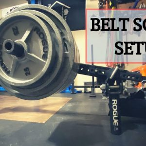 Alternative Belt Squat Setup | Lever Arm Belt Squat | Garage Gym Belt Squat
