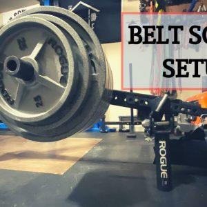 Alternative Belt Squat Setup | Lever Arm Belt Squat | Garage Gym Belt Squat