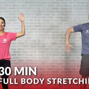 30 Minute Full Body Stretch Routine - Total Body Stretching Exercises & Flexibility Stretches