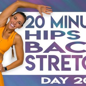 20 Minute Stretch for Hips and Back | TRANSCEND - Day 20