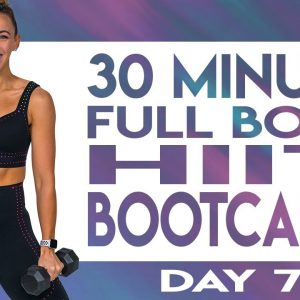 30 Minute Full Body HIIT Bootcamp Workout | TRANSCEND - Day 7