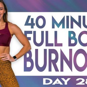 40 Minute Full Body Burnout Workout | TRANSCEND - Day 28
