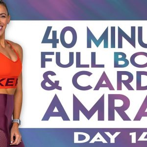 40 Minute Full Body & Cardio AMRAP Workout | TRANSCEND - Day 14