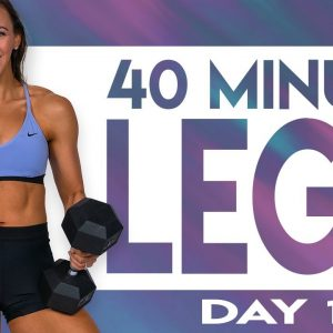 40 Minute Legs - Level 1 Workout | TRANSCEND - Day 1