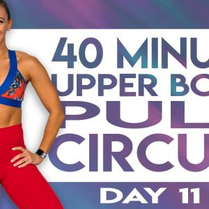40 Minute Upper Body Pull Circuit Workout | TRANSCEND - Day 11