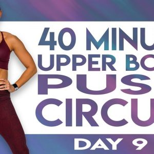 40 Minute Upper Body Push Circuit Workout | TRANSCEND - Day 9