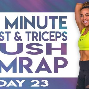 45 Minute Chest & Triceps Push AMRAP Workout | TRANSCEND - Day 23