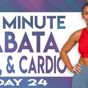 45 Minute Christmas Eve Cardio and Abs Workout | TRANSCEND - Day 24