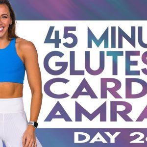 45 Minute Glutes & Cardio AMRAP Workout | TRANSCEND - Day 26