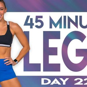 45 Minute Legs Level 4 Workout | TRANSCEND - Day 22