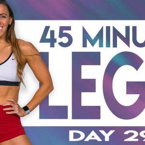 45 Minute Legs Level 5 Workout | TRANSCEND - Day 29