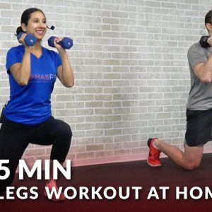 5 Minute Legs Workout at Home - 5 Min Leg Workouts with Dumbbells