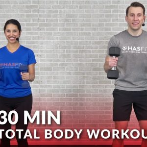 Total Body Workout with Dumbbells – 30 Minute Full Body Workouts with Weights Home Strength Training