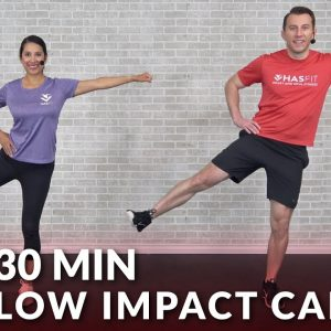 Low Impact Total Body Cardio Workout at Home for Beginners - 30 Minute Standing Cardio No Jumping
