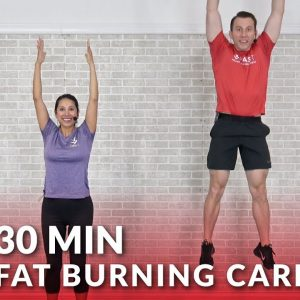 30 Minute Fat Burning Cardio Workout at Home - 30 Min HIIT Cardio Workouts without Equipment