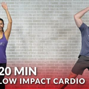 20 Minute Low Impact Standing Cardio Workout with No Jumping - 20 Min Standing Workout for Beginners