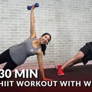 30 Minute HIIT Workout with Weights - Full Body 30 Min HIIT Tabata Workouts at Home with Dumbbells