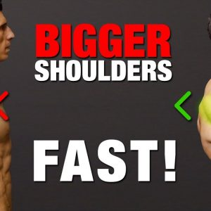 How to Get Bigger Shoulders Fast (JUST DO THIS!)