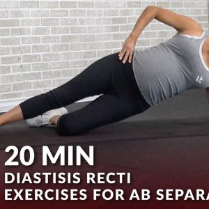 20 Min Diastisis Recti Exercises for Ab Separation During & After Pregnancy - Abdominal Workout