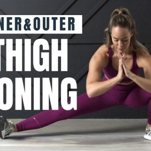 Inner + Outer Thigh Toning Workout // Low Impact, No Equipment