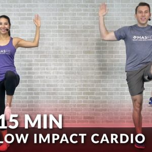 15 Minute Low Impact Cardio Workout for Beginners - Quiet 15 Min Standing Workout with No Jumping