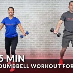 5 Minute Dumbbell Workout for Chest - Home Chest Workout Routine Exercises for Men & Women