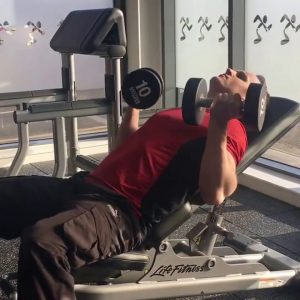 Lying Bench Curls