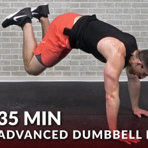 35 Min Advanced Dumbbell HIIT Workout - Hard High Intensity Workouts at Home for Women & Men