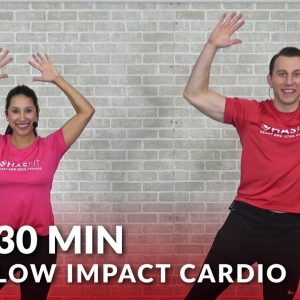 30 Minute Low Impact Cardio Workout for Beginners - 30 Min Standing Cardio with No Jumping Workout
