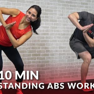 10 Minute Standing Abs Workout & Low Impact Standing Cardio Workout - 10 Min Abs - Standing Up Ab