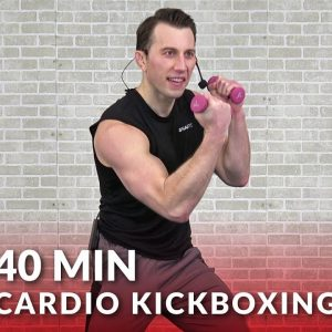 Cardio Kickboxing Workout to Torch Fat 🔥 40 Min Cardio Boxing Workout at Home