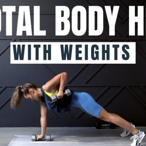 30 MINUTE HIIT Workout // With Weights