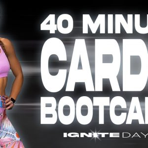 40 Minute Cardio Bootcamp and Plank Challenge Workout | IGNITE - Day 6