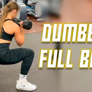 DUMBBELL ONLY FULL BODY WORKOUT | Beginners & Advanced