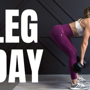 Killer LEG DAY!! // Lower Body STRENGTH WORKOUT