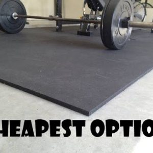 The cheapest gym floor option: stall mats