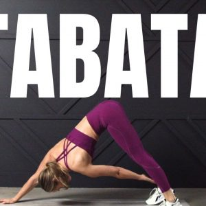 20 Minute FIERCE TABATA Workout // No Equipment
