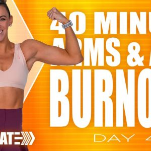 40 Minute Arms and Abs Burnout Workout | ACCELERATE - Day 4