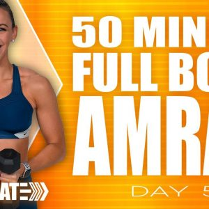 50 Minute Full Body AMRAP Workout | ACCELERATE - Day 5