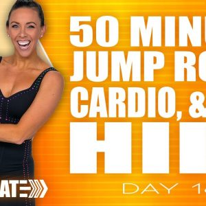 50 Minute Jump rope Cardio and Abs HIIT Workout | ACCELERATE - Day 16