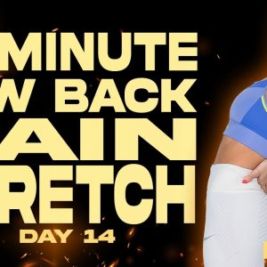 20 Minute Low Back Pain Stretch | BURN - Day 14