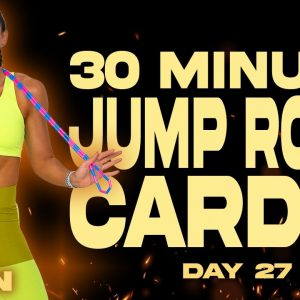 30 Minute Jump Rope Cardio Workout | BURN - Day 27
