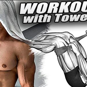 10 Minute Body Workout with Towel! Lose Weight Off Your Waist!