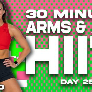 30 Minute Arms and Abs HIIT Workout | SHRED - DAY 25