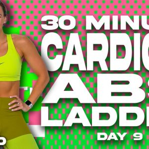 30 Minute Cardio and Abs Ladder Workout | SHRED - DAY 9