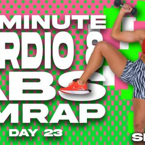 40 Minute Cardio and Abs AMRAP Workout | SHRED - DAY 23