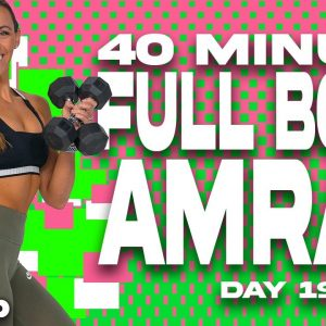 40 Minute Full Body AMRAP Workout | SHRED - Day 19